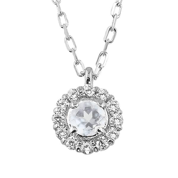 ブルームーンストーン 取り巻き ネックレス ダイヤモンド 6月誕生石 プラチナ Pt900 ペンダント カラーストーン 誕生日プレゼント ギフト
