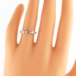 サファイアリング 9月誕生石 プラチナ リボンモチーフ ダイヤモンド Pt900 ピンキーリング カラーストーン 新生活 在宅 ファッションAL3Rj54