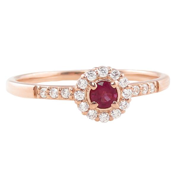 ガーネットリング 指輪 取り巻き 1月誕生石 10金 K10 ピンキーリング カラーストーン ギフト