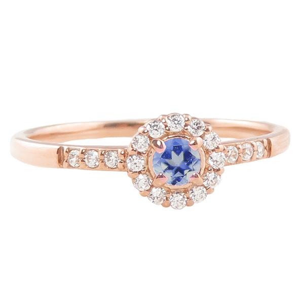 タンザナイト リング 指輪 取り巻き 12月誕生石 10金 K10 ピンキーリング カラーストーン ギフト ホワイトデー