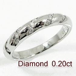 プラチナ900 天然ダイヤモンド15石 0.20ct ご婚約 ご結婚