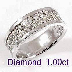 プラチナ ダイヤモンドリング 40石 1.00ct Pt900