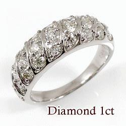 ホワイトゴールドK18 天然ダイヤモンド25石 1.00ct 記念日