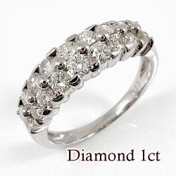 プラチナ900 天然ダイヤモンド18石 1.00ct 記念日