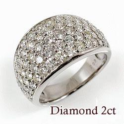 ホワイトゴールドK18 天然ダイヤモンド69石 2.00ct 記念日