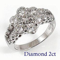 プラチナ900 天然ダイヤモンド29石 2.00ct ジュエリーアイ