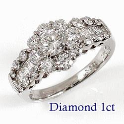 プラチナ900 天然ダイヤモンド 29石 1.00ct ジュエリーアイ