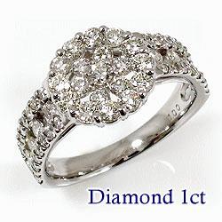 プラチナ900 天然ダイヤモンド59石 1.00ct ジュエリーアイ