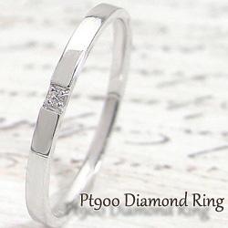 ピンキーリング プラチナリング 一粒 ダイヤモンドリング 指輪 Pt900 1号~ プレゼント 文字入れ 刻印 可能 小指 ギフト