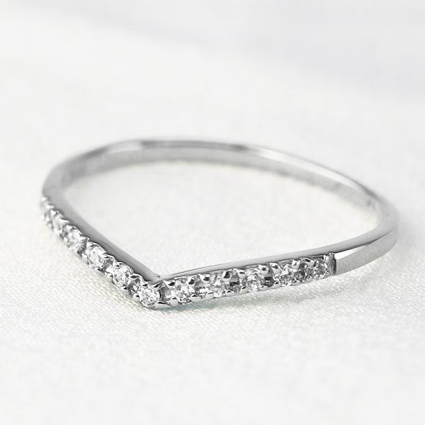 エタニティリング 指輪 レディース ダイヤモンド Vライン プラチナ Pt900 デザイン eternity diamond 1号~ ピンキーリング 指輪 繊細 プレゼント ハーフエタニティ ボーナス プレゼント
