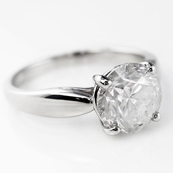ダイヤモンドリング プラチナ 指輪 レディース Pt900 ダイヤモンド 大粒 ダイヤ 2ct 一粒 4本爪 天然ダイヤ 鑑定書付 婚約指輪 ブライダル ホワイトデー プレゼント ホワイトデー
