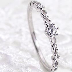 ダイヤモドリング プラチナ 指輪 レディース Pt900 ピンキーリング 1号~ 婚約指輪 結婚 記念日 ホワイトデー プレゼント ホワイトデー