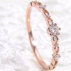 ダイヤモドリング 指輪 レディース 18金 ピンキーリング 1号~ ゴールド K18 ミルククラウン diamond ring 通販 ショップ クリスマス プレゼント xmas