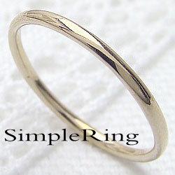 指輪 ピンキーリング シンプル ストレートリング 18金 イエローゴールドK18 丸線 地金 華奢 結婚指輪 レディースリング 文字入れ 刻印 可能 1号から ギフト