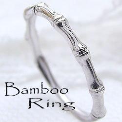 バンブー ピンキーリング 竹 指輪 エタニティリング ホワイトゴールドK10 10金 小指用 レディース 工房 通販 直送 文字入れ 刻印 可能 1号から ギフト