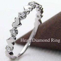 ハートリング ダイヤモンドリング 10金 指輪 ゴールドK10 ハートモチーフ ピンキーリング ファランジリング ミディリング 誕生日 贈り物 ギフト
