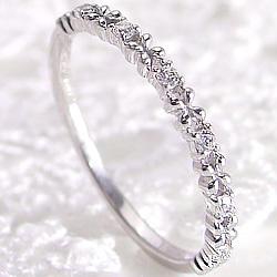 ピンキーリング フラワーリング ダイヤリング プラチナ900 指輪 フラワーデザイン Pt900 天然ダイヤモンド diamond ring 通販 アクセサリー ショップ ジュエリー プレゼント 文字入れ 刻印 可能 ギフト