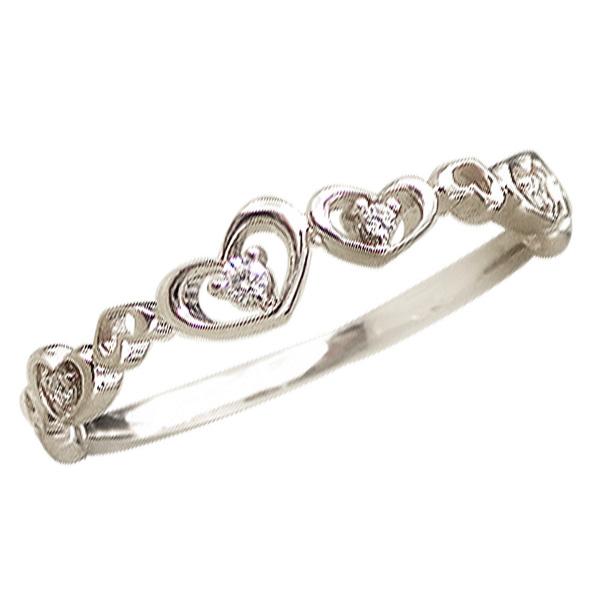 プラチナ 指輪 ハートリング ダイヤモンドリング ピンキーリング Pt900 ピンキーリング ファランジリング ミディリング 通販 ギフト