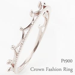 ティアラリング プラチナ 指輪 ピンキーリング ファランジリング ミディリング Pt900 ring ネットショップ 通販 ギフト OSSS
