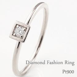 一粒ダイヤモンドリング 指輪 プラチナ 重ね着け ピンキーリング ファランジリング ミディリング Pt900 ring ネットショップ 通販 ギフト OSSS