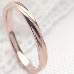 ピンクゴールドK18シンプルリング K18PG 指輪 レディースring ジュエリーアイ ギフト 贈り物 新生活 在宅 ファッション 自粛