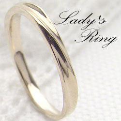 ピンキーリング イエローゴールドK10 シンプルリング K10YG 指輪 レディース アクセサリー ショップ ジュエリーアイ 文字入れ 刻印 可能 ギフト