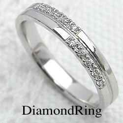 ダイヤモンドリング クロス ホワイトゴールドK18 十字架 レディースリング K18 指輪 ジュエリーアイ ギフト