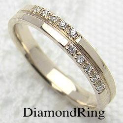 ダイヤモンドリング クロス イエローゴールドK10 十字架 レディースリング K10 指輪 ジュエリーアイ ギフト