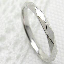 ホワイトゴールドK10 シンプルリング K10WG 指輪 ひし形 ピンキーリング 記念日 プレゼント お洒落 工房 通販 ring 大人 スタイル ギフト 新生活 在宅 ファッション