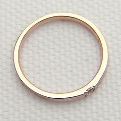 一粒 ダイヤモンドリング ピンクゴールドK10 K10PG 記念日 結婚 贈り物に 指輪 diaring 新生活 在宅 ファッションnwOP80k