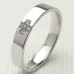 ダイヤモンドクロスリング ホワイトゴールドK18 十字架 K18WGアクセサリー 指輪 クリスマス 記念日 ファッションリング レディースリング ギフト 新生活 在宅 ファッション 自粛