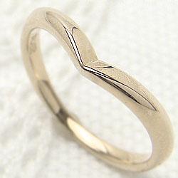 イエローゴールドK10 シンプルリング 10金 指輪 Vライン ピンキーリング 記念日 プレゼントに ギフト クリスマス プレゼント xmas