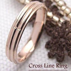 ピンキーリング クロスリング 指輪 ピンクゴールドK18 クロスデザイン ファッションリング 誕生日プレゼント ギフト ホワイトデー