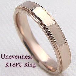 ピンクゴールドK18 シンプルラインリング K18PG ピンキーリング オシャレ プレゼント 指輪 記念日 贈り物 誕生日 ジュエリーアイ 3.7mm幅 ギフト