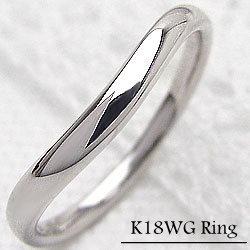レディースリング K18WG ホワイトゴールドK18 ファッションリング ピンキーリング 指輪 ジュエリーショップ ギフト