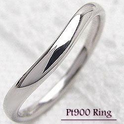 プラチナ900 シンプルリング Pt900 オシャレ アクセサリー 誕生日 記念日 プレゼント 贈り物 指輪 ピンキーリング マリッジリング ギフト