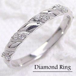 ホワイトゴールドK18 ダイヤモンドリング K18WG ピンキーリング diaring 記念日 大切な日に ギフト ホワイトデー