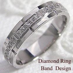 ベルト デザイン ダイヤモンド リング ホワイトゴールド K18 記念 豪華 レディース ピンキーリング 指輪 ブライダル アクセサリーショップ ジュエリーアイ サプライズ 工房 通販 誕生日 ギフト