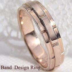 バンドデザインリング ピンクゴールドK10 結婚式 プレゼント オシャレ指輪 K10PG アクセサリー ジュエリーショップ ファッションリング ギフト
