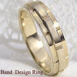 バンドデザインリング イエローゴールドK18 K18YG指輪 誕生日 プレゼント アクセサリーショップ ジュエリーショップ ファッションリング ギフト クリスマス プレゼント xmas