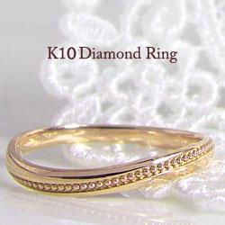 爆買いセール ピンキーリング 指輪 10金リング K10WG K10PG K10YG 通販 ファッションリング 重ね着け ギフト プレゼント 女性用 クリスマス ミル打ち 通販ショップ 誕生日プレゼント 休日