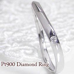 指輪 プラチナ900 リング 一粒ダイヤモンド 女性用 誕生日プレゼント ピンキーリング 通販ショップ ギフト