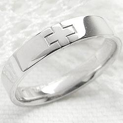 クロスリング ホワイトゴールドK10 十字架 K10WG 指輪 レディースring ギフト