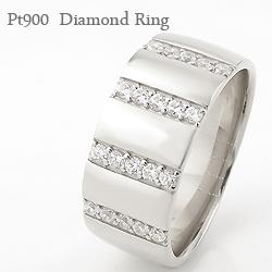 指輪 プラチナ900 リング ダイヤモンド 幅広 女性用 誕生日プレゼント ピンキーリング 通販ショップ ギフト クリスマス プレゼント xmas