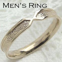 K10YGメンズリング イエローゴールドK10 K10YG Men's シンプルジュエリー オシャレ指輪 メンズアクセサリー ギフト クリスマス プレゼント xmas