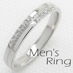 メンズリング クロスリング ダイヤモンド ホワイトゴールドK18 十字架 指輪 ギフト 新生活 在宅 ファッション