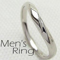 ホワイトゴールドK10 メンズ リング K10WG men's ジュエリー 記念日 男性用 指輪 ピンキー リング オシャレ ギフト