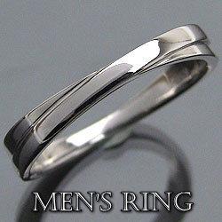 men'sアクセサリー 指輪 ホワイトゴールドK10 K10WG メンズリング 誕生日プレゼントに ギフト