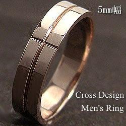 クロスメンズリング K10PG アクセサリー 十字架リング ピンクゴールドK10 誕生日プレゼント お買い得 ピンキーリング オシャレ 指輪 ジュエリーショップ ギフト