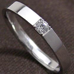 ダイヤメンズリング ホワイトゴールドK18 一粒ダイヤモンド men'sアクセサリーK18WG 結婚式 ジュエリーショップ プレゼント 贈り物 ギフト